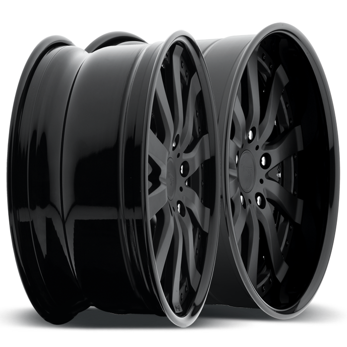 Niche Element - N380 Matte Black Wheels - 3 Piece Forged