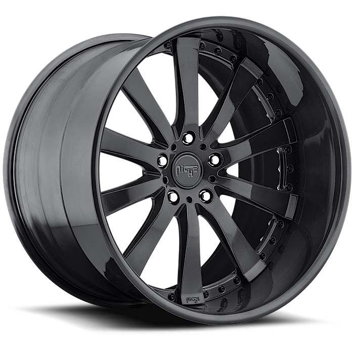 Niche Element - N380 Gloss Black Wheels - 3 Piece Forged