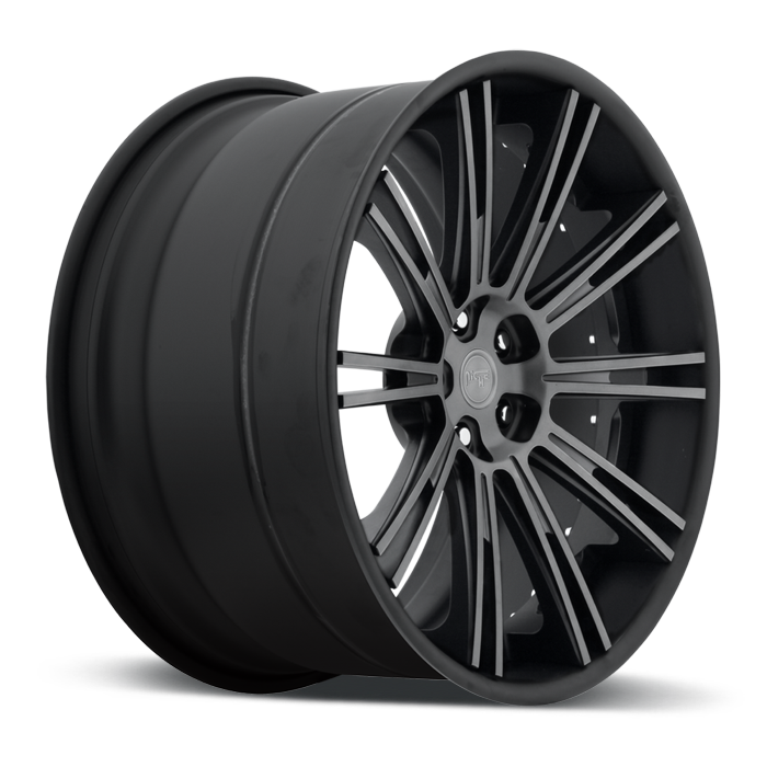Niche Laguna - A430 Matte Black Double Dark Tint Wheels - 3 Piece Forged