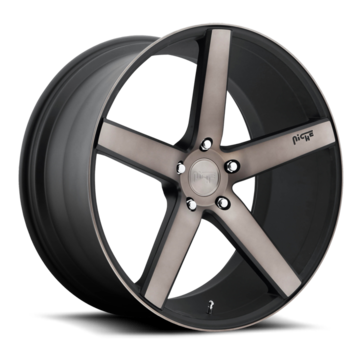 Niche Milan - M134 Black Machined Double Dark Tint Wheels