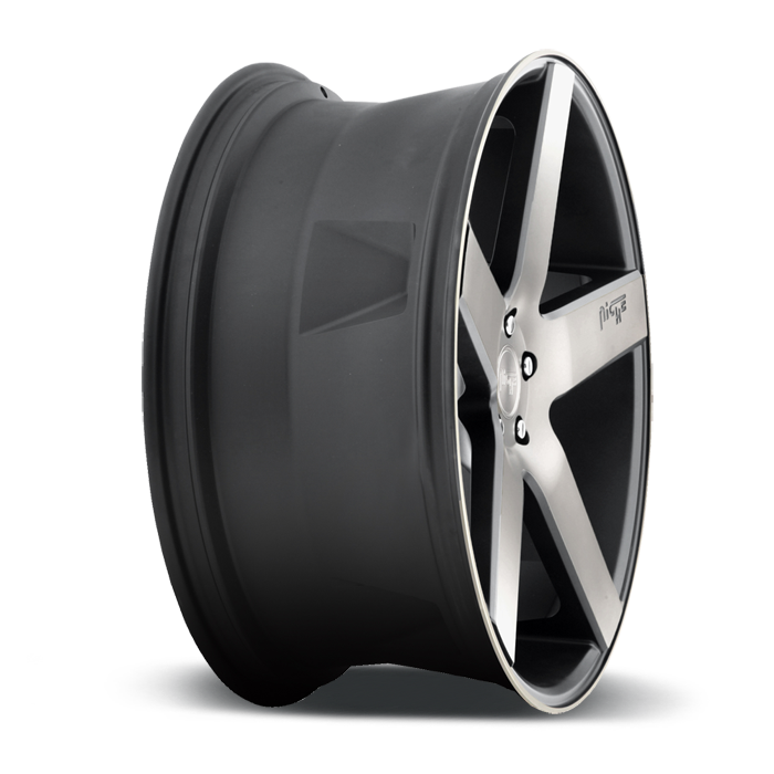 Niche Milan - M134 SUV Black Machined Double Dark Tint Wheels