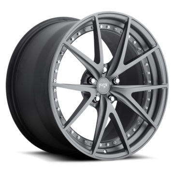 Niche Misano - A610 Anthracite Wheels - 3 Piece Forged