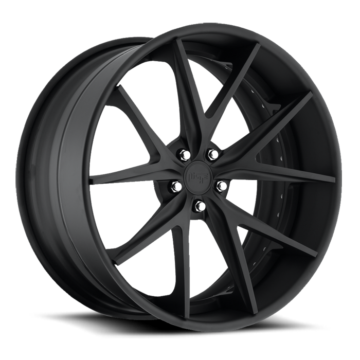 Niche Misano - A610 Matte Black Wheels - 3 Piece Forged