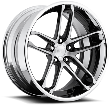 Niche Monaco - A230 Black and Machined Wheels - 3 Piece Forged