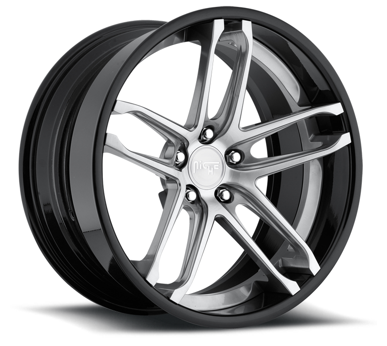 Niche Monaco - A230 Gloss Anthracite Brushed Face Wheels - 3 Piece Forged