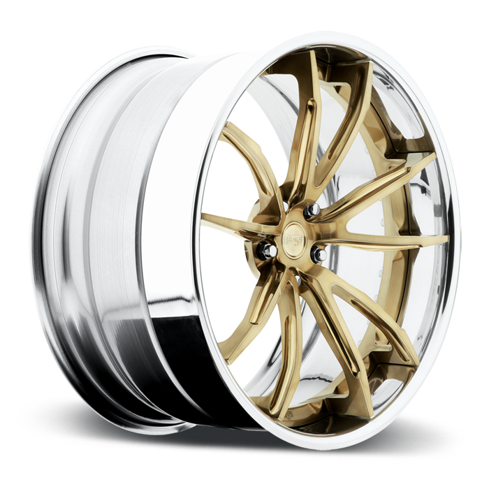 Niche Monza - A440 Brushed Monoco Copper Chrome Lip Wheels - 3 Piece Forged