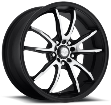 Niche Monza - M140 Black Machined Wheels