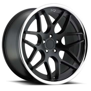Niche Mugello - M883 Matte Black Face Chrome Stainless Lip Wheels