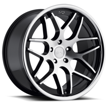Niche Mugello - M884 Black and Machined Face Chrome Stainless Lip Wheels