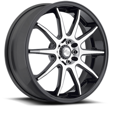 Niche NR10 - M122 Matte Black and Machined Wheels