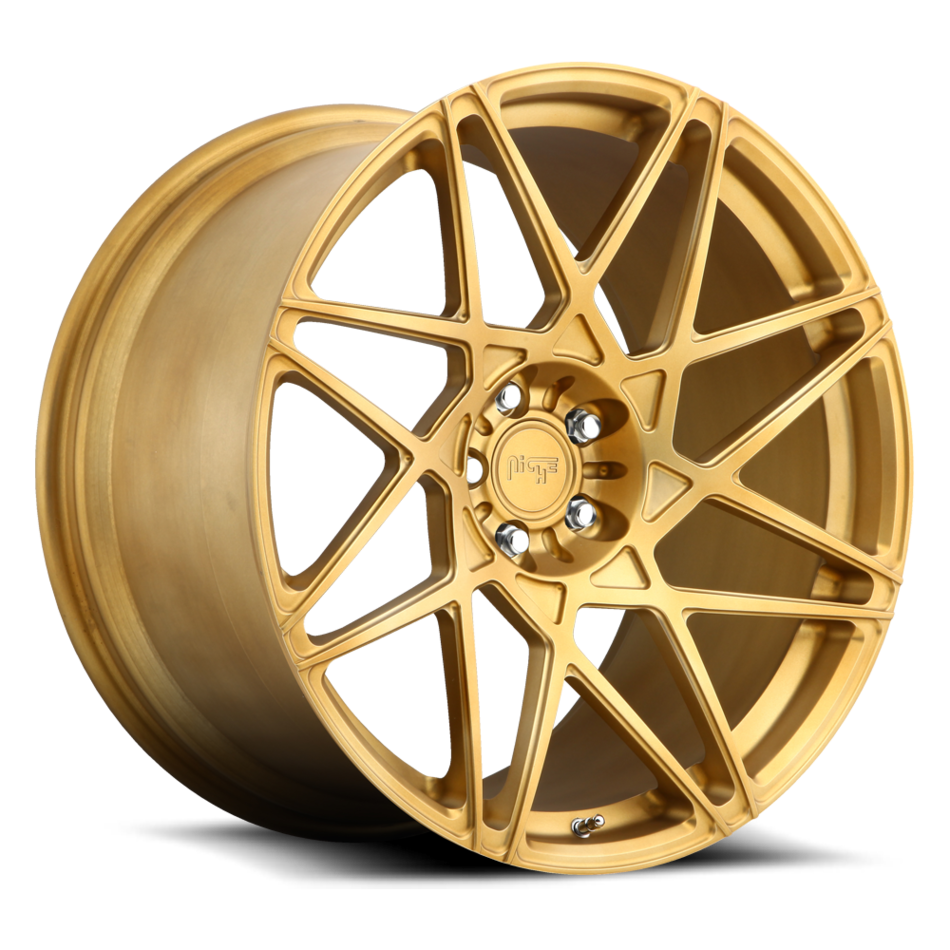 Niche Alpine D - 86 Forged Brushed Matte Gold Finish Wheels