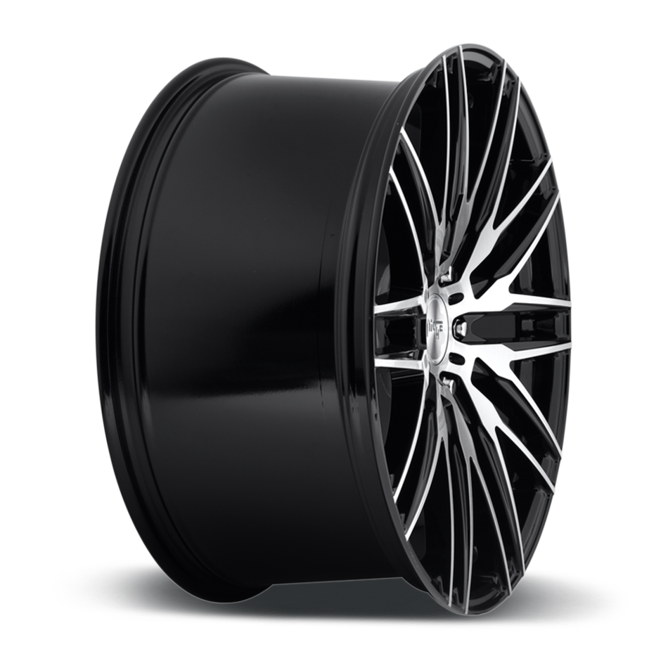 Niche Anzio - M165 Gloss Black with Brushed Face Finish Wheels