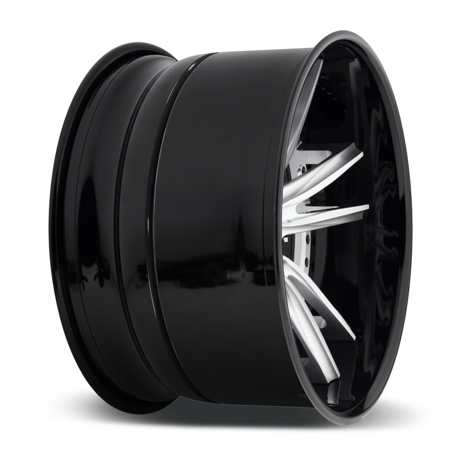 Niche Bastille - 903 Forged Brushed Center with Gloss Black Lip Finish Wheels
