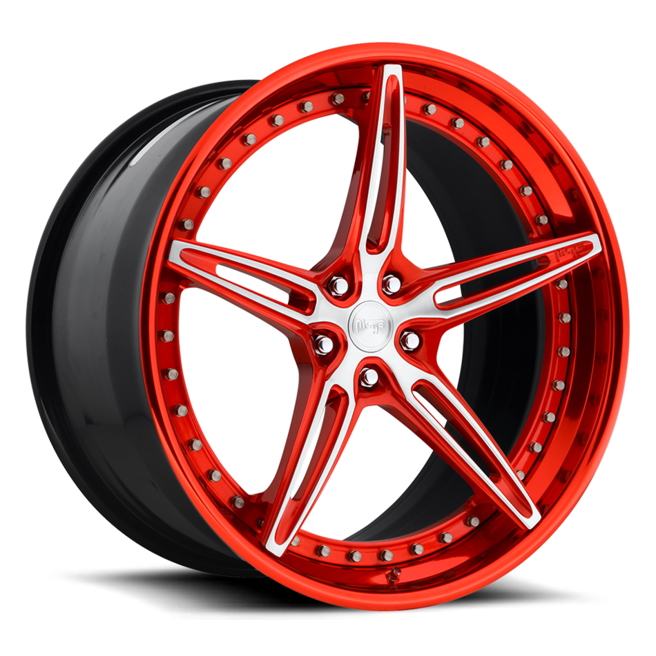 Niche Cambio - 901 Forged Candy Red and Brushed Finish Wheels