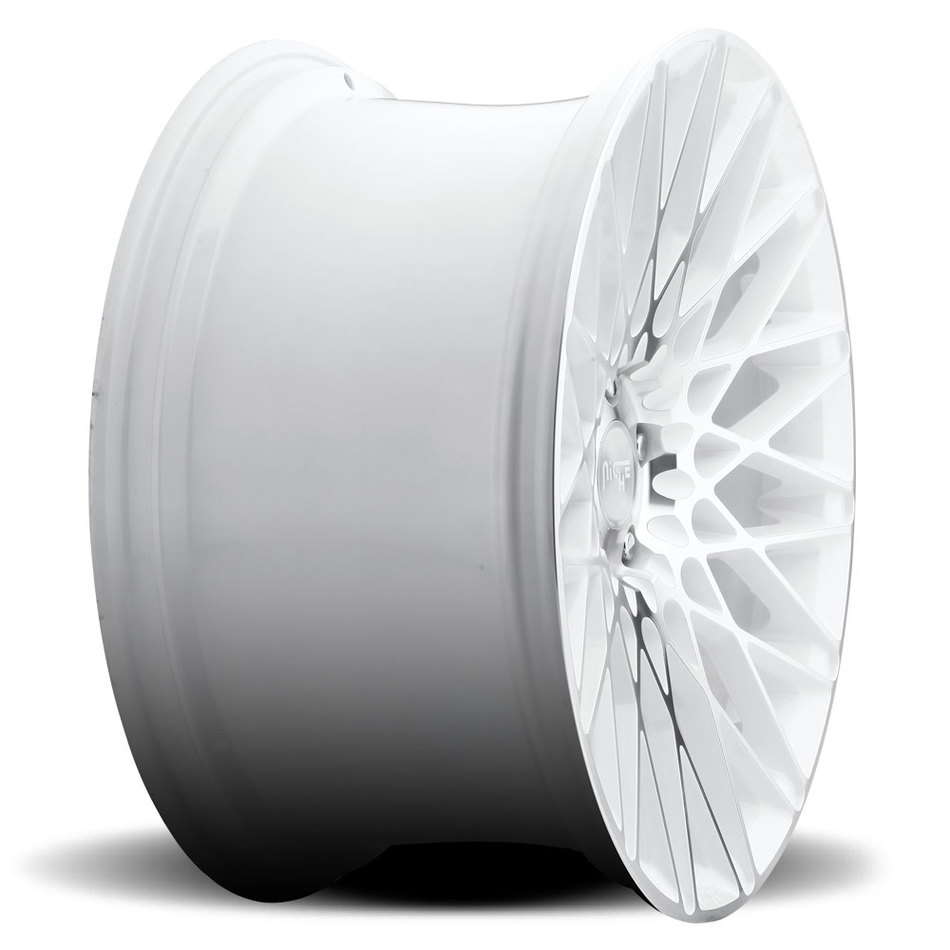 Niche Citrine - M156 Gloss White and Machined Finish Wheels