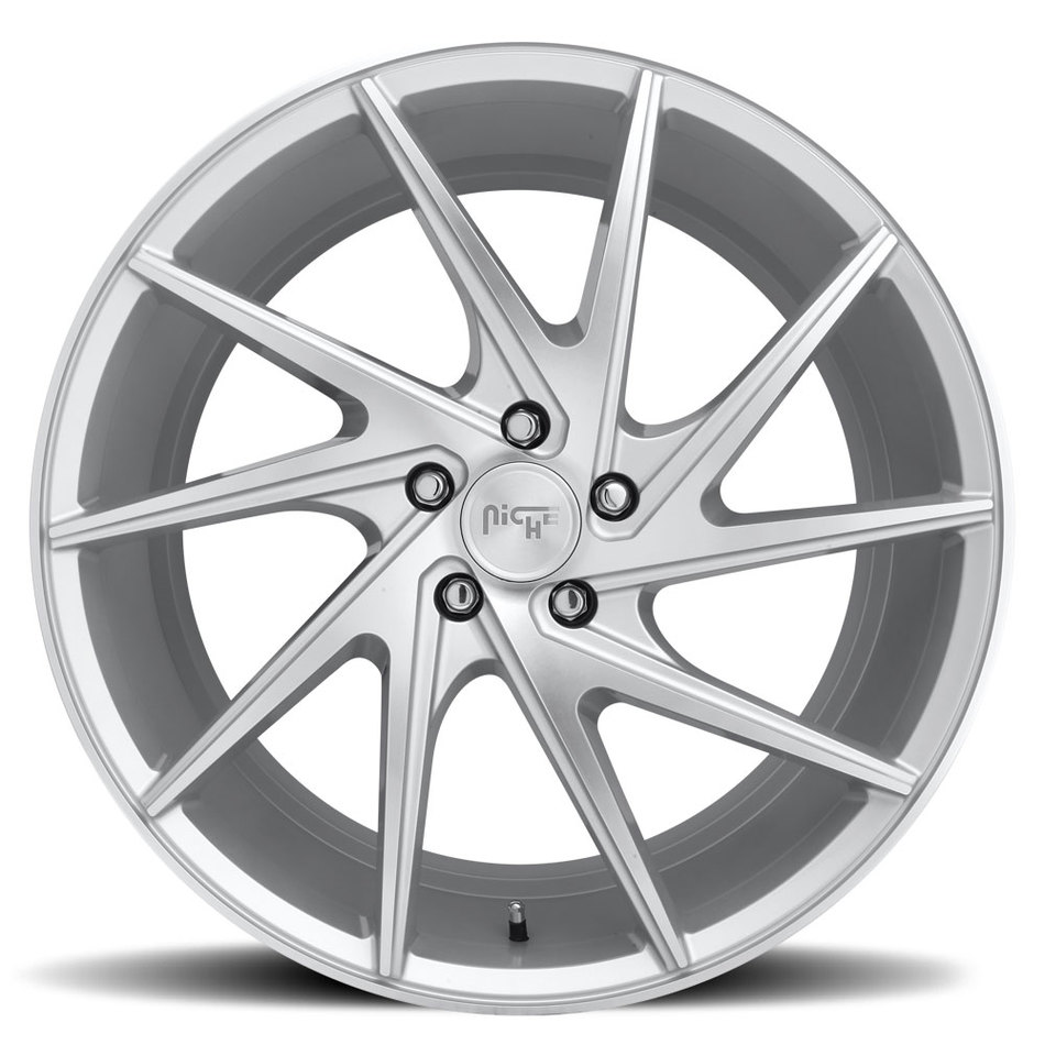 Niche Invert - M162 Silver and Machined Finish Wheels
