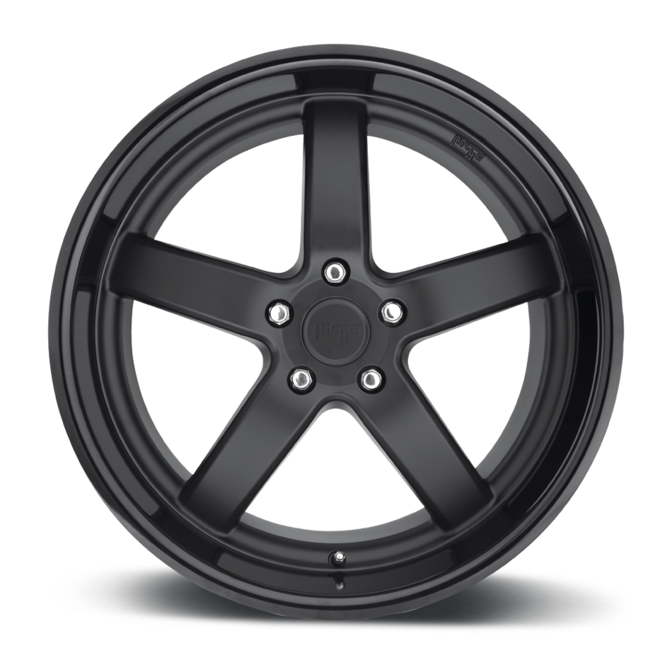 Niche Pantano - M173 Matte Black with Gloss Black Lip Finish Wheels