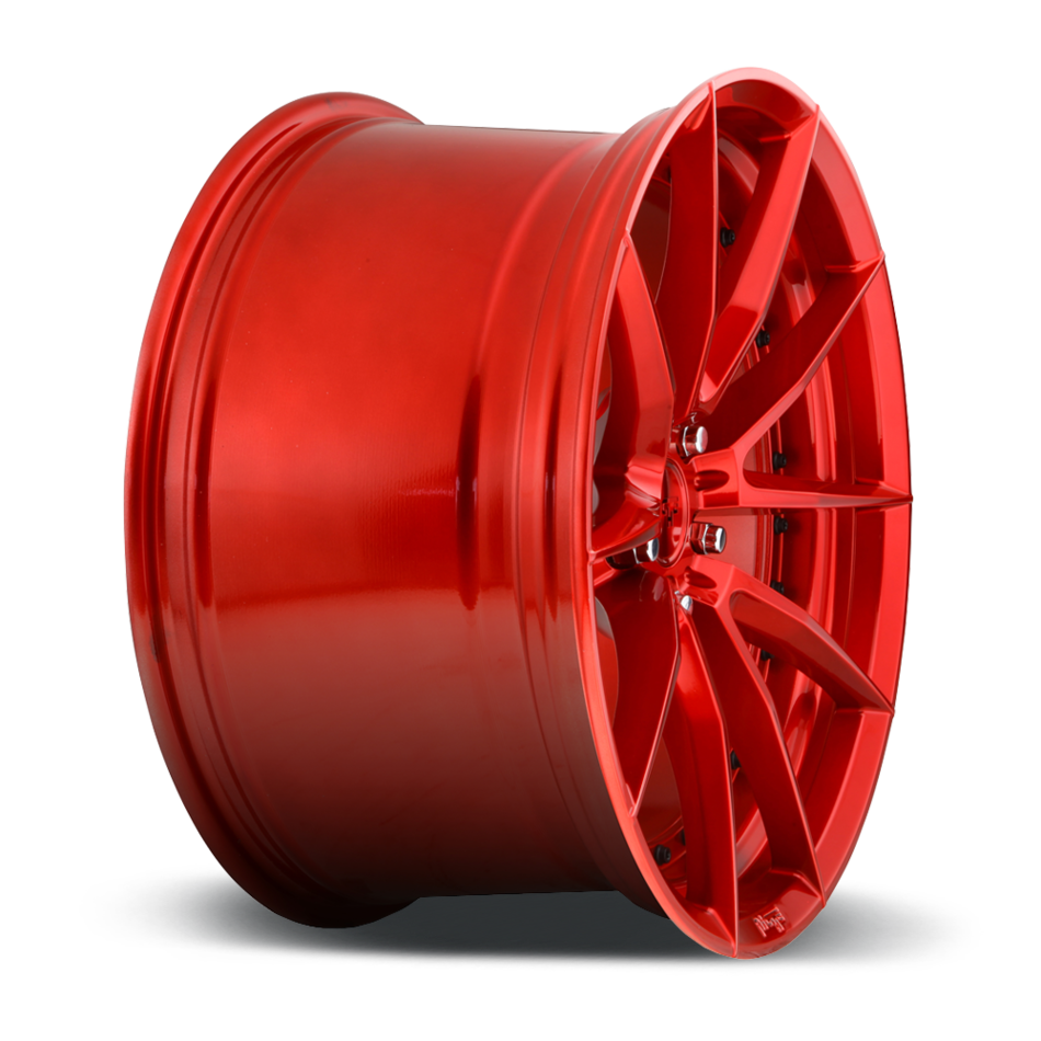Niche Sector M213 Candy Red Finish Wheels
