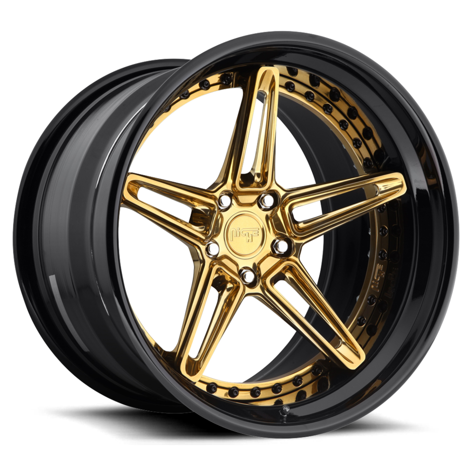 Niche Versailles Forged Monaco Copper Center with Black Lip Finish Wheels