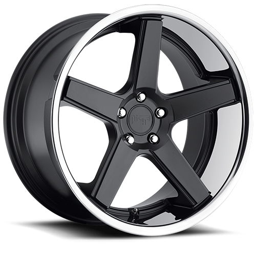 Niche Nurburg - M880 Gloss Black and Matte Black Face Chrome Stainless Lip Wheels