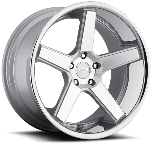 Niche Nurburg - M880 Silver and Machined Face Chrome Stainless Lip Wheels