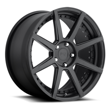 Niche Nyx - P74 Matte Black Gloss Black Windows Wheels - 3 Piece Forged