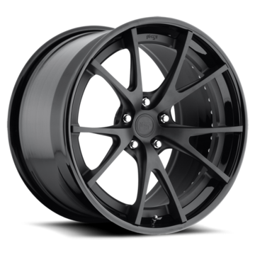 Niche Stuttgart - H70 Matte Black Face Gloss Lip Wheels
