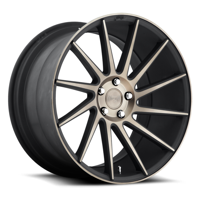 Niche Surge - M114 Black Machined Double Dark Tint Wheels