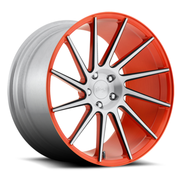 Niche Surge - T75 Custom Orange Black Machined Monoblock Wheels