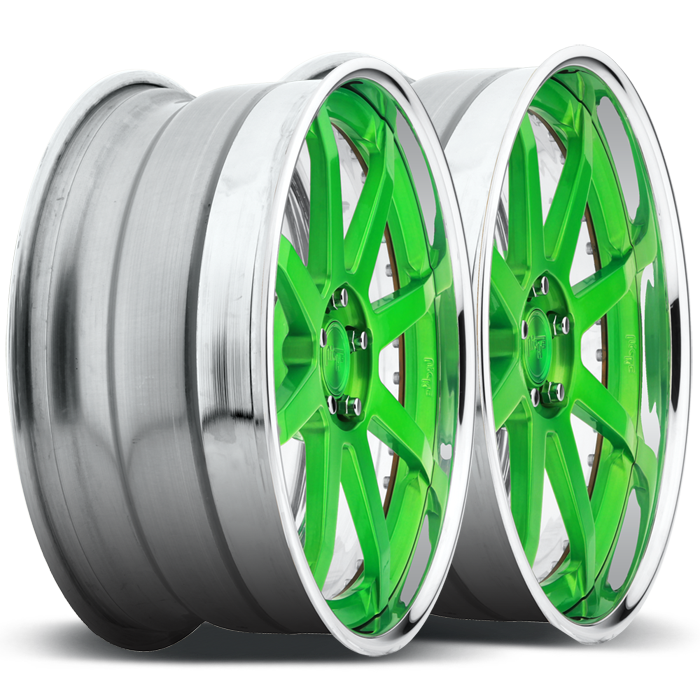 Niche Vector - N370 Green Face Polished Lip Finish Wheels
