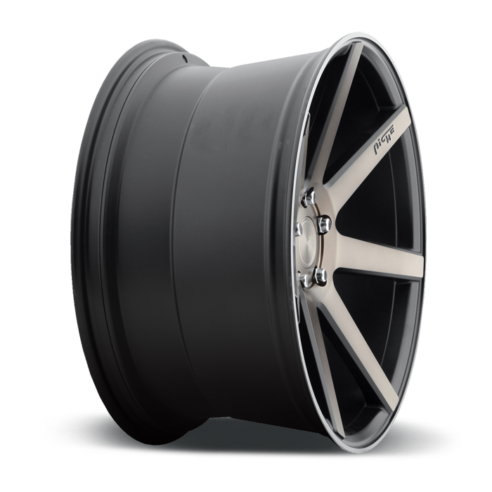 Niche Verona - M150 Black Machined Double Dark Tint Wheels