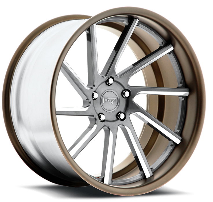 Niche WS10 - A60 Silver and Bronze Wheels