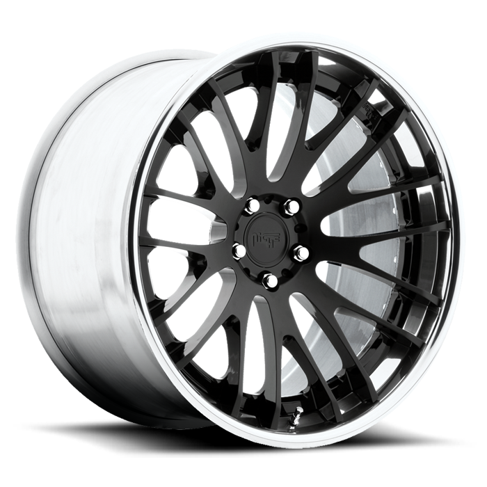 Niche Zurich - H530 Matte Black Face Black Windows Chrome Lip Wheels