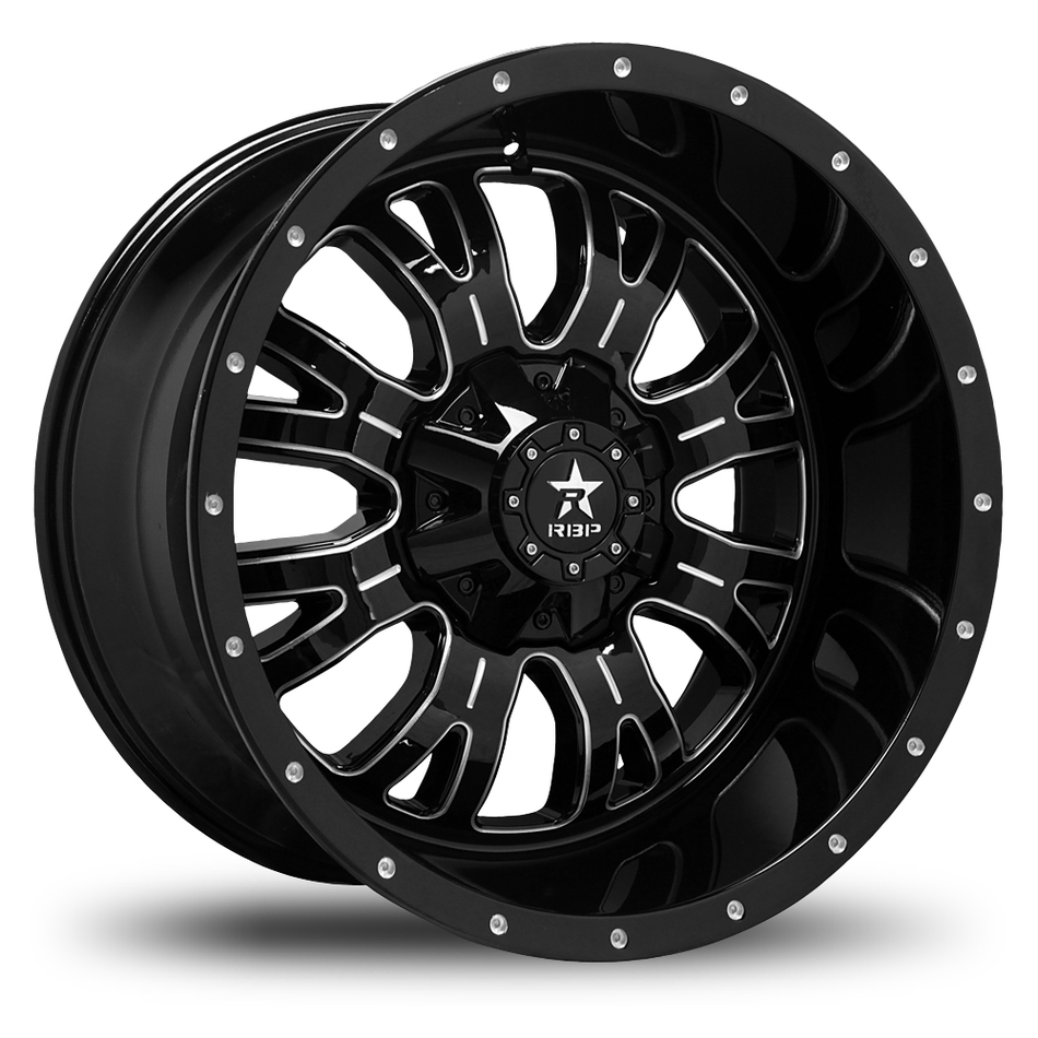 RBP 89R Assassin Black and Machined Finish Offroad Wheels