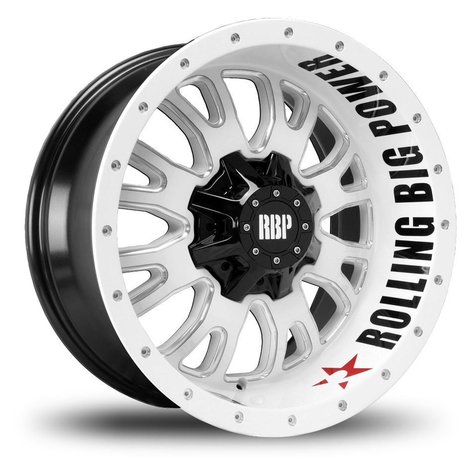 RBP 89R Assassin Black, White and Machined Finish Offroad Wheels
