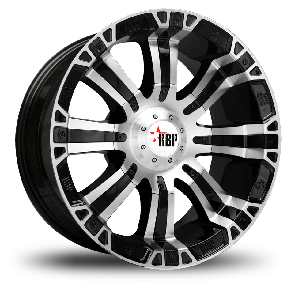 RBP 94R Black and Machined Offroad Wheels