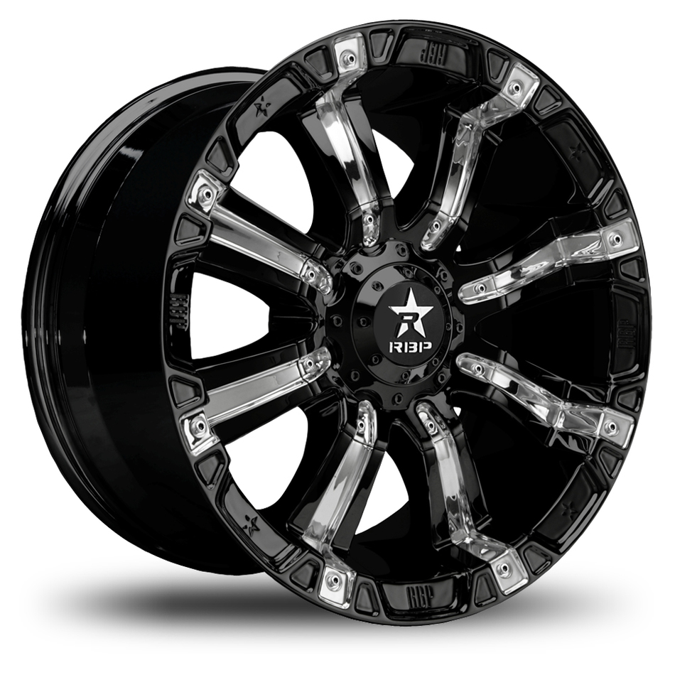 RBP 94R Black and Chrome Offroad Wheels