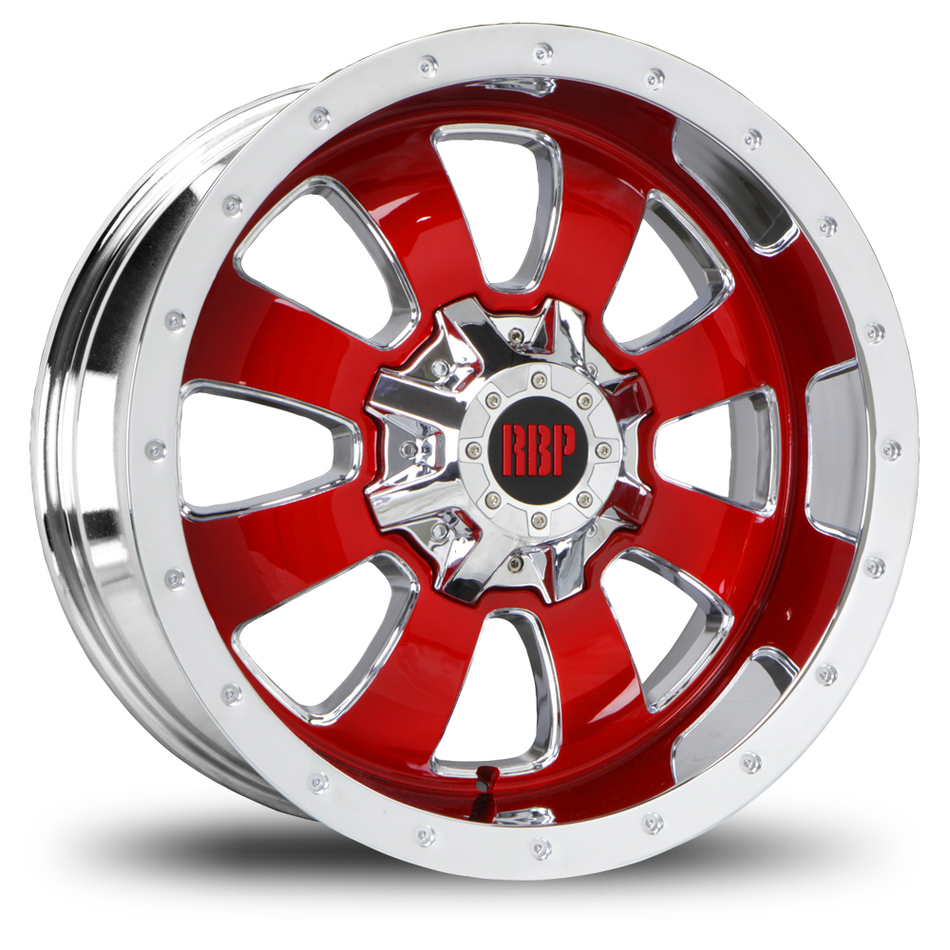 RBP 99R Fury Custom Chrome and Red Finish Offroad Wheels