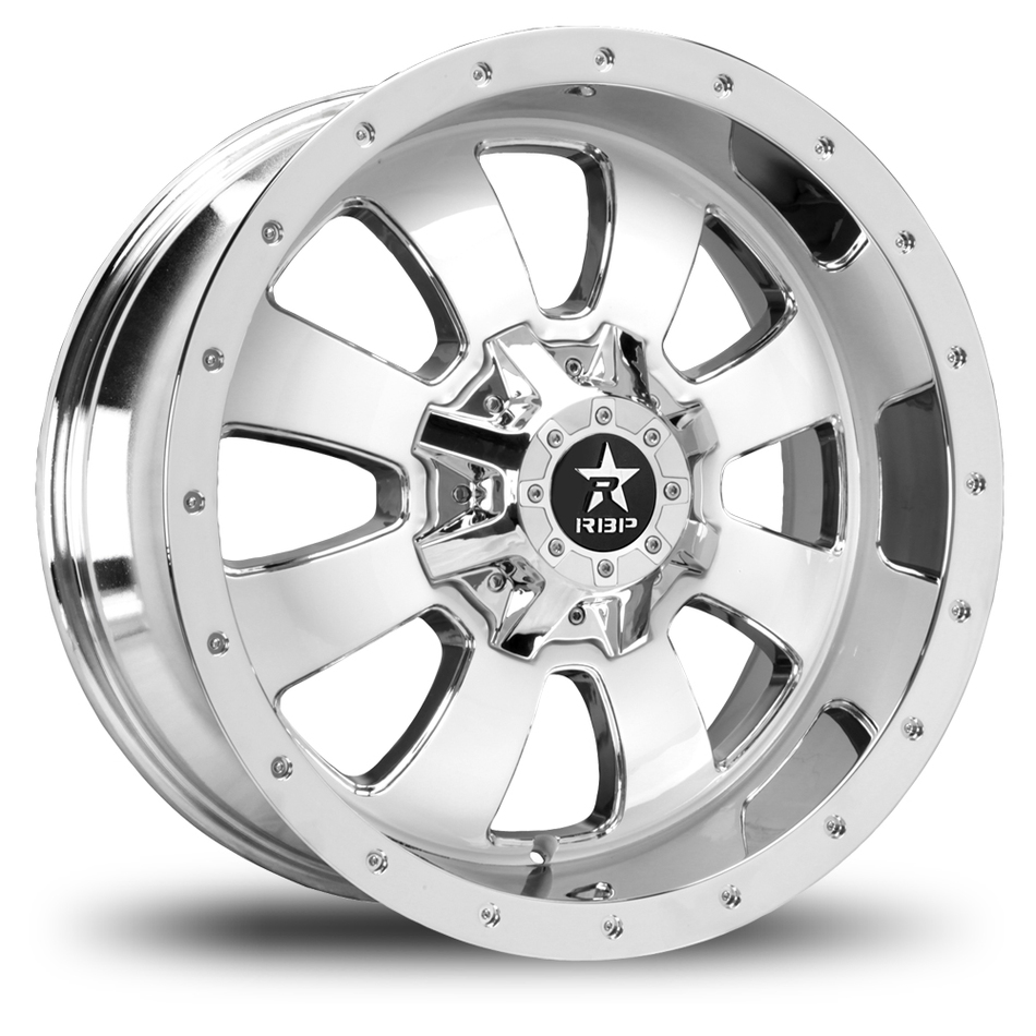 RBP 99R Fury Custom Chrome and White Finish Offroad Wheels