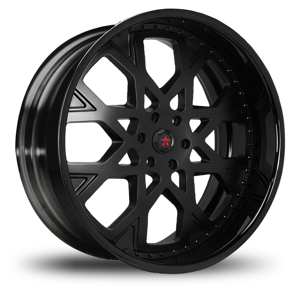 RBP Assault 3 Piece Custom Satin and Black Wheels