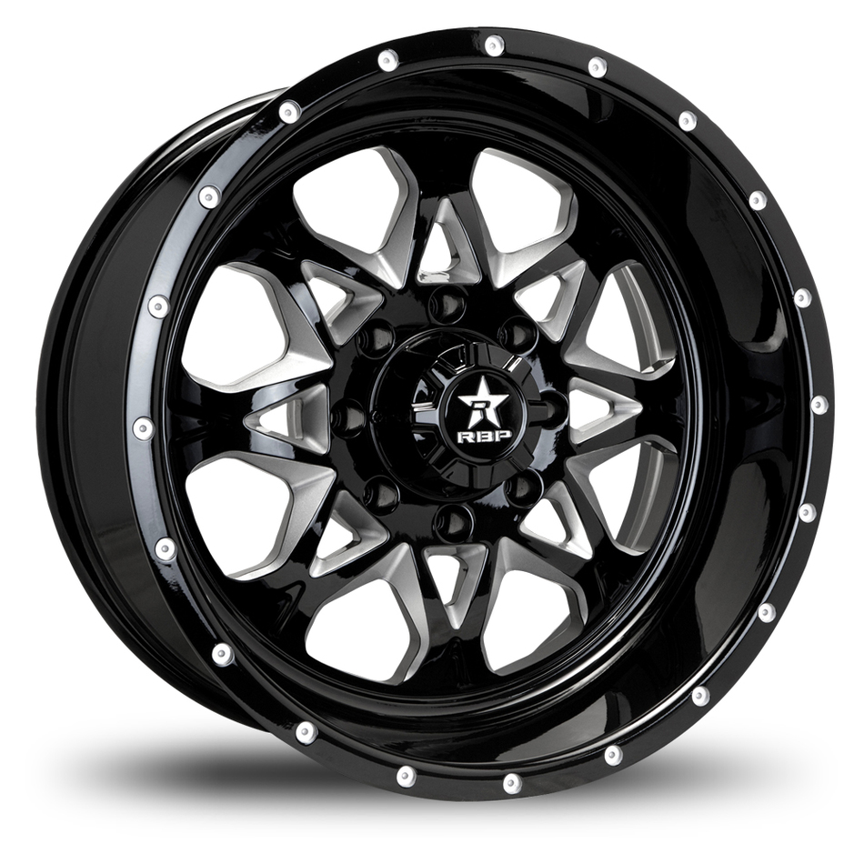 RBP Assault Monoblock Black and Machined Finish Offroad Wheels