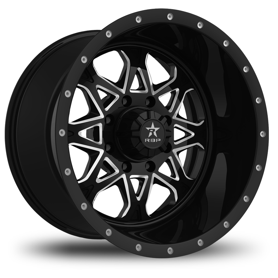 RBP Assault Monoblock Gloss Black and Machined Finish Offroad Wheels
