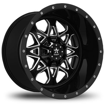 RBP Assault Offroad Gloss Black and Machined Finish Wheels
