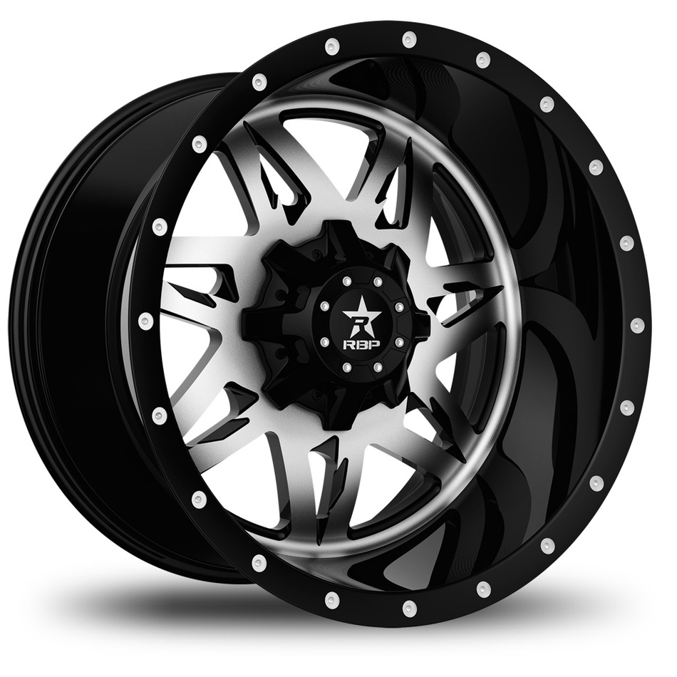 RBP Avenger Monoblock Machine and Black Finish Wheels