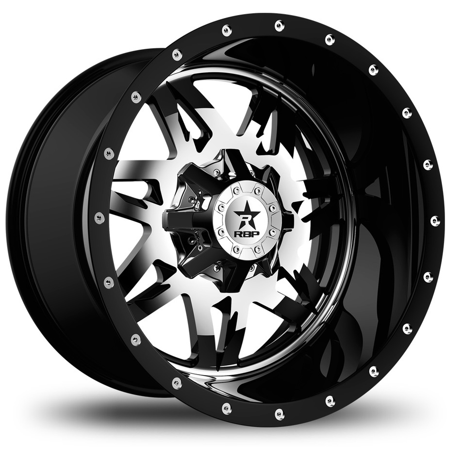 RBP Avenger Monoblock Custom Chrome and Black Finish Wheels