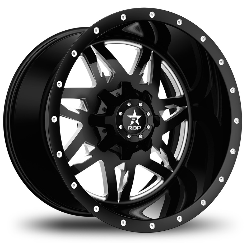RBP Avenger Monoblock Custom Black with Milled Spokes Finish Wheels