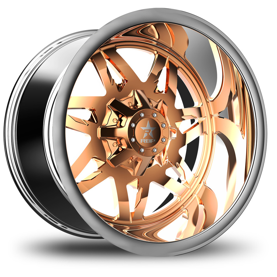 RBP Avenger Monoblock Custom Chrome and Copper Finish Wheels