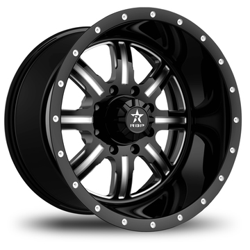 RBP Baretta Monoblock Matte Black and Machined Finish Wheels