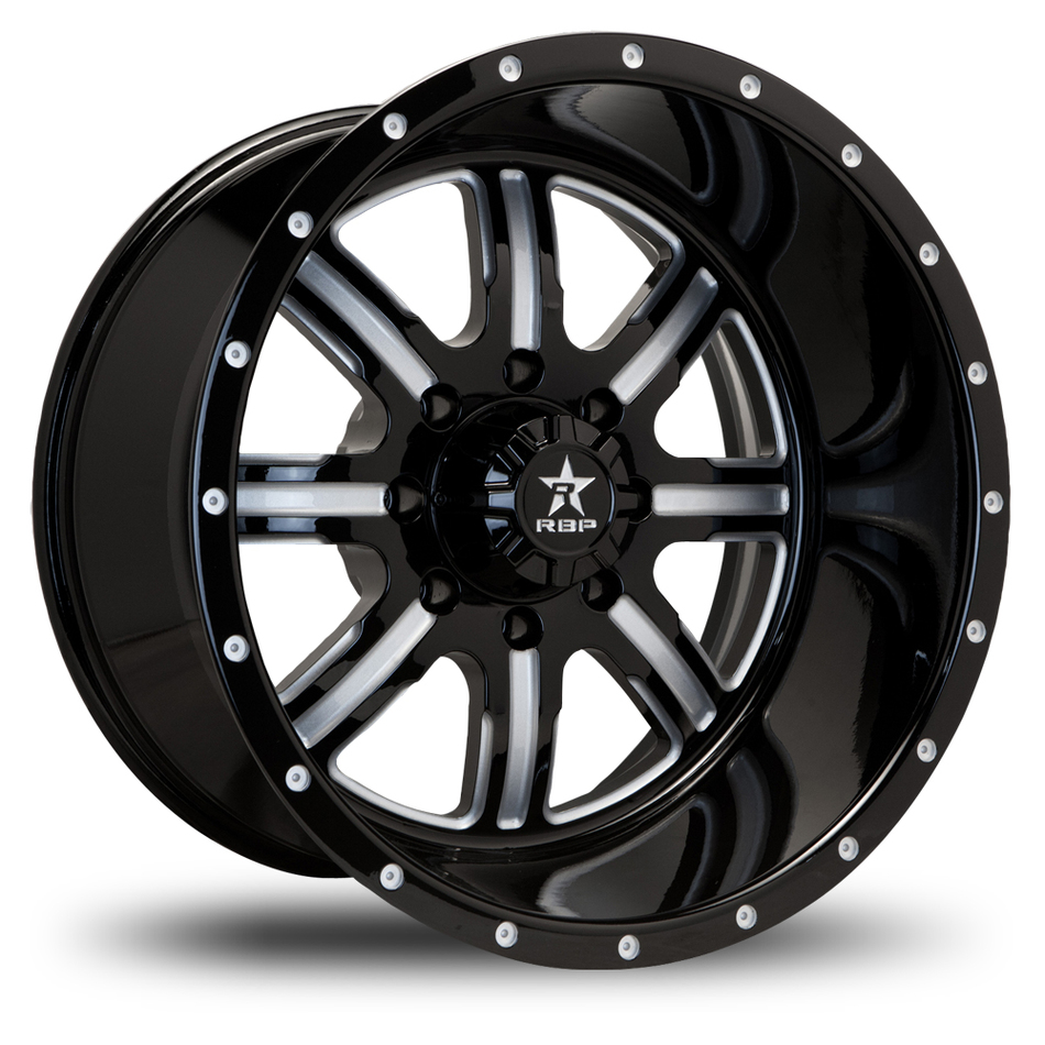 RBP Baretta Monoblock Gloss Black and Machined Finish Wheels