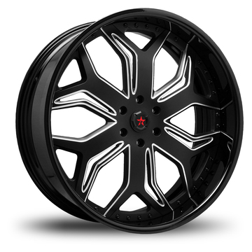 RBP Blade 3 Piece Black and Machined Custom Finish Wheels